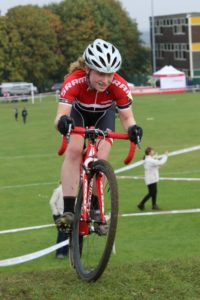 Poppy Wildman dominating the U16 girls (photo: Mick Brown)