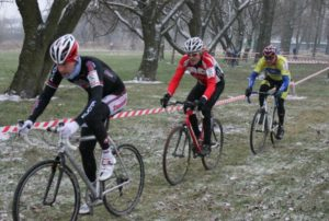 Vintage riders in a vintage year - 2012 ice-fest at Darley Moor ;-)